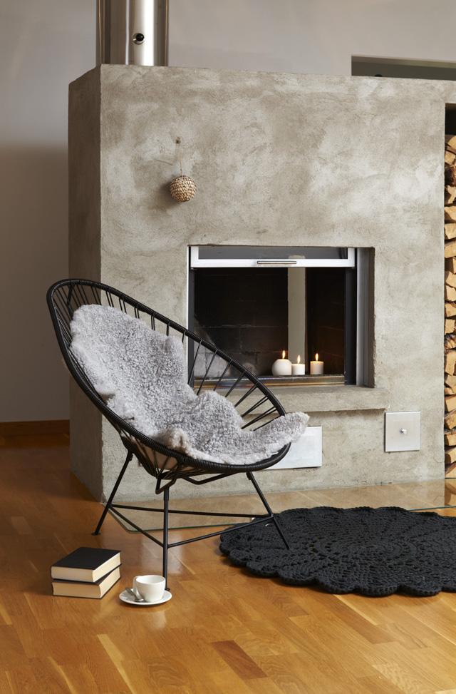 sillas vintage antiguas de los 50s silla acapulco negra con piel-lectura