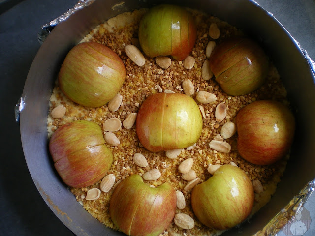 Pastel de manzana al estilo de Suabia. Relleno de manzanas