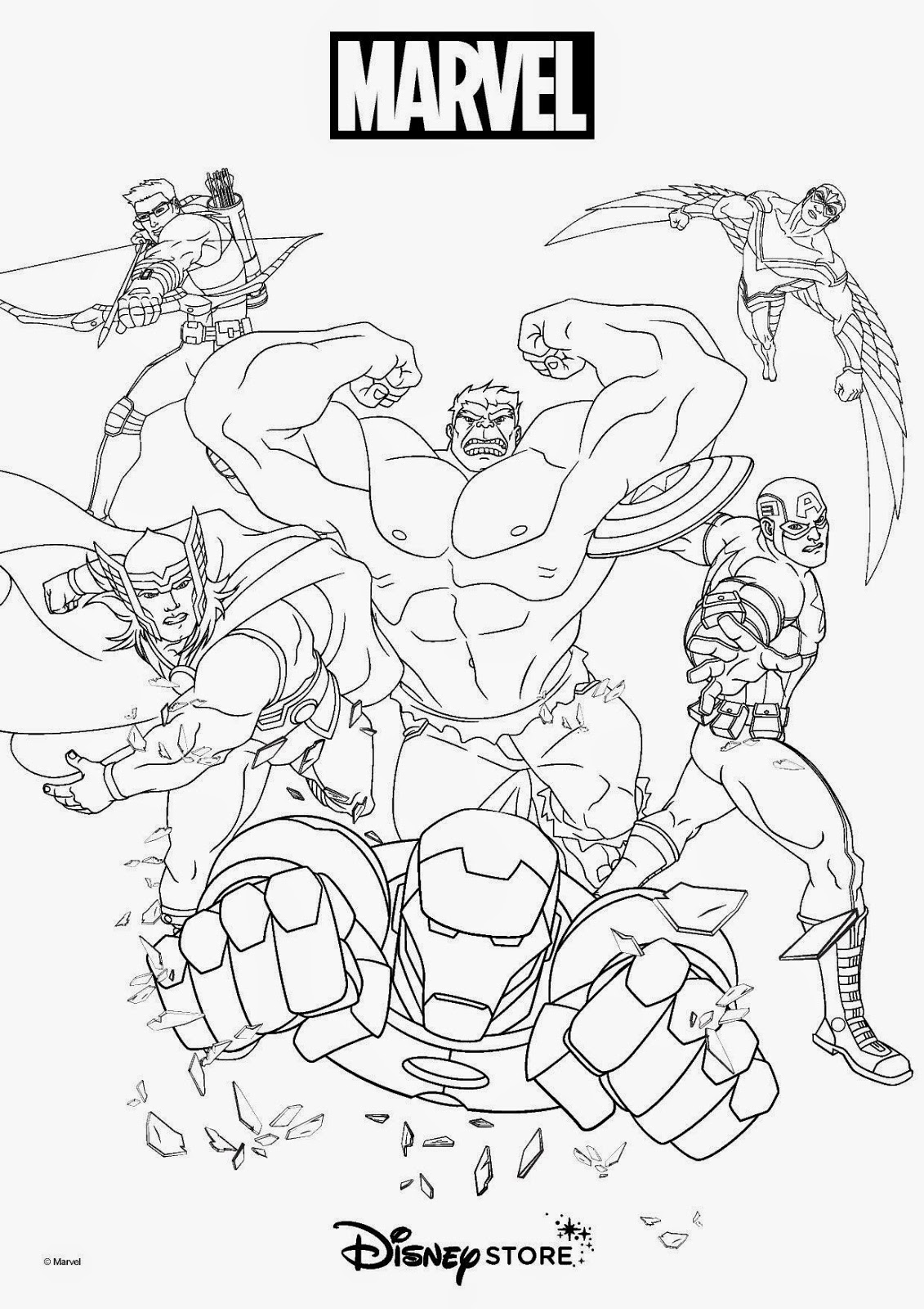Ausmalbilder Marvel Superhelden: Super Heroes Coloring Pages
