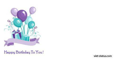 Status chúc mừng sinh nhật - mẫu 5