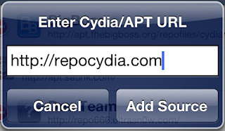 enter repocydia repository in sources
