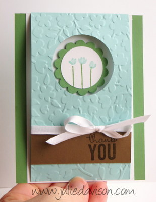 Stampin' Up! Painted Petals Flip Card #occasions #stampinup www.juliedavison.com