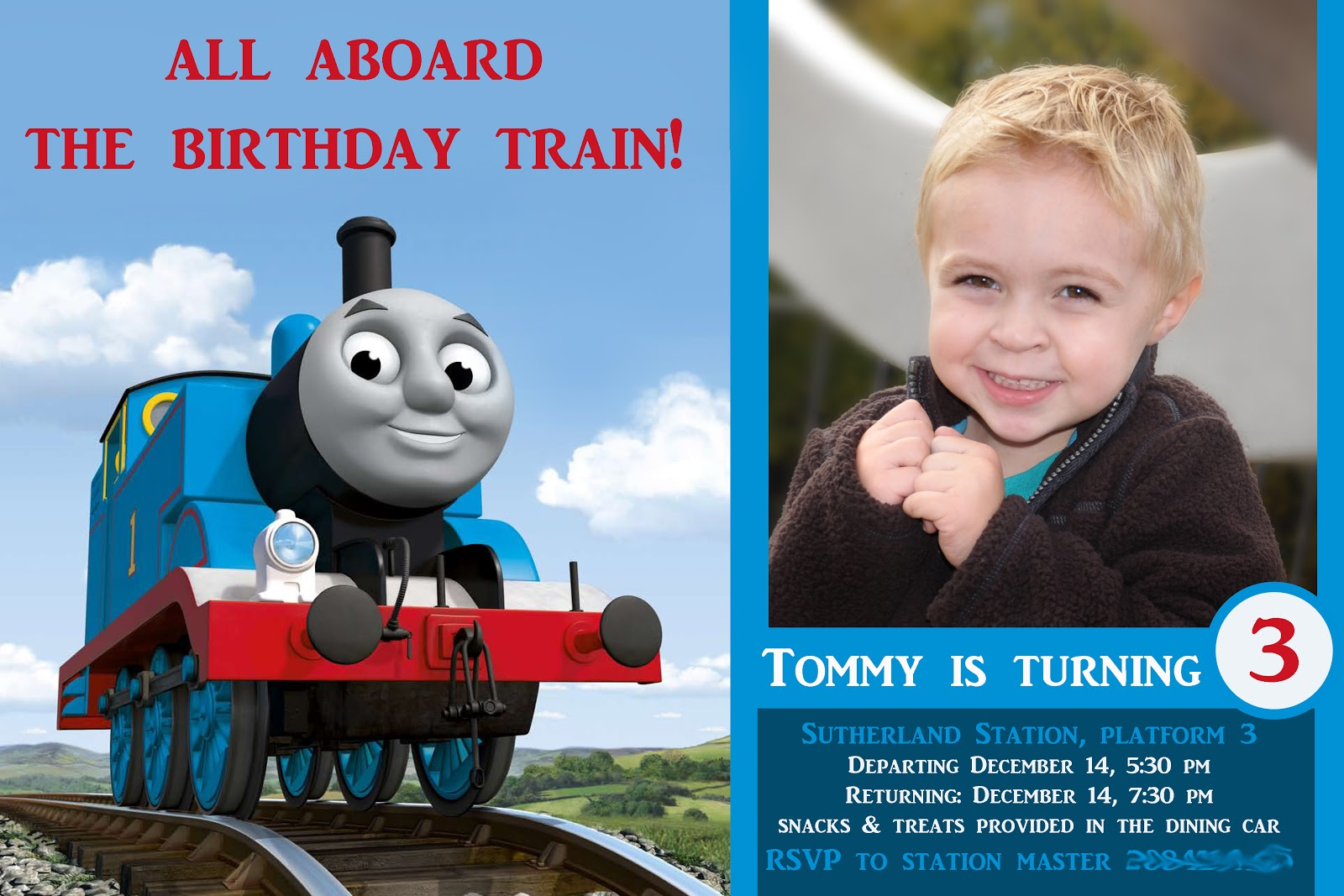 Thomas The Train Invitation Template Here is the invite i sent out: