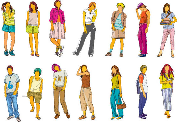 Teenager Cartoon Girl Drawings