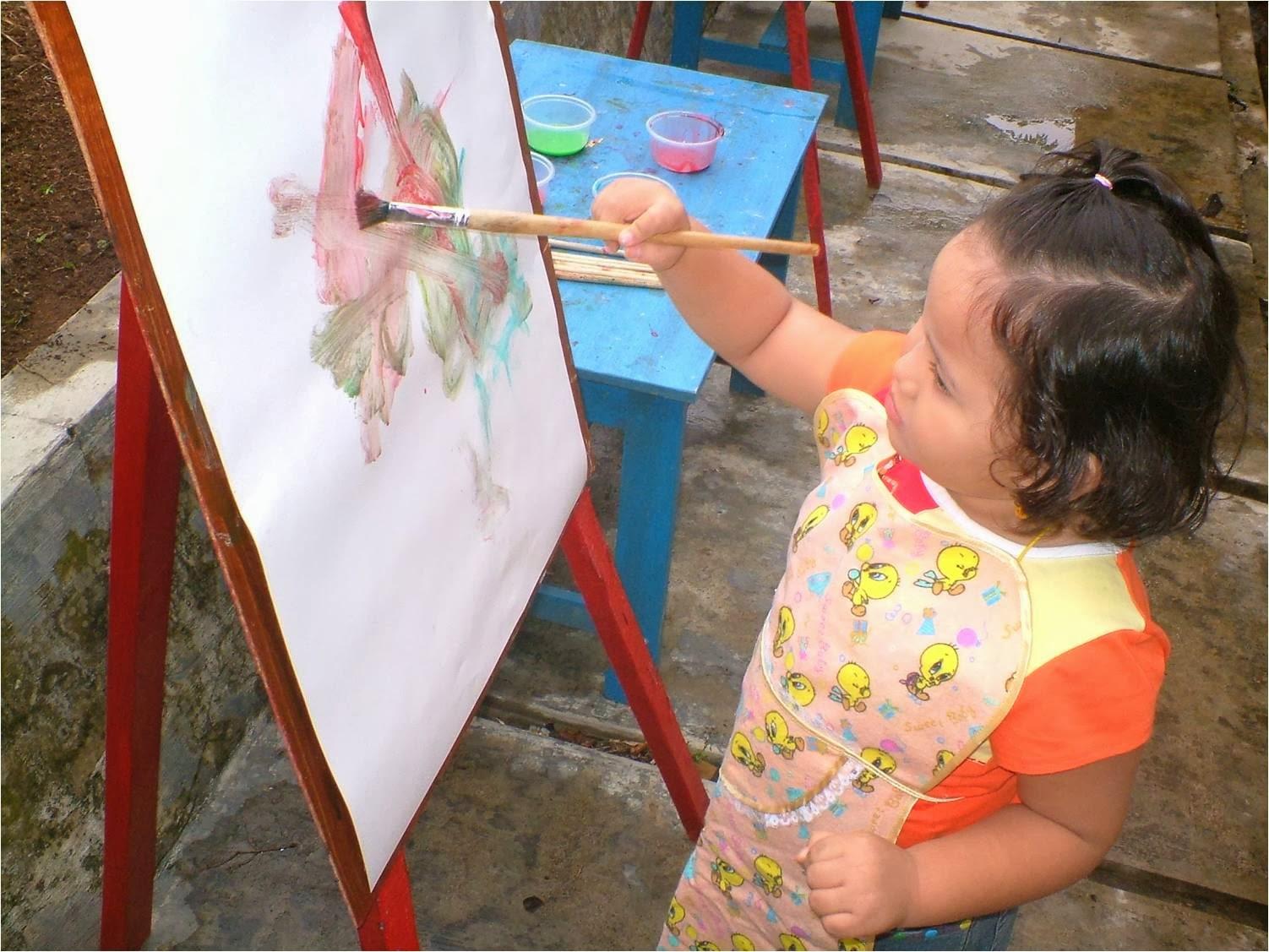 Anak Menggambar, Cara Menggambar, anak melukis