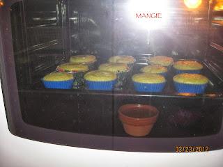 Magdalenas caseras en el horno