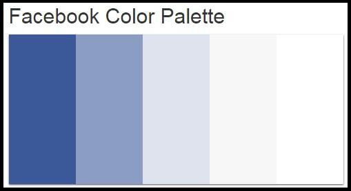 fakta tentang tampilan warna khas facebook