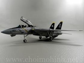 Máy bay mô hình tĩnh F-14B Tomcat VF-103 Jolly Rogers hiệu Witty Wings tỉ lệ 1:72