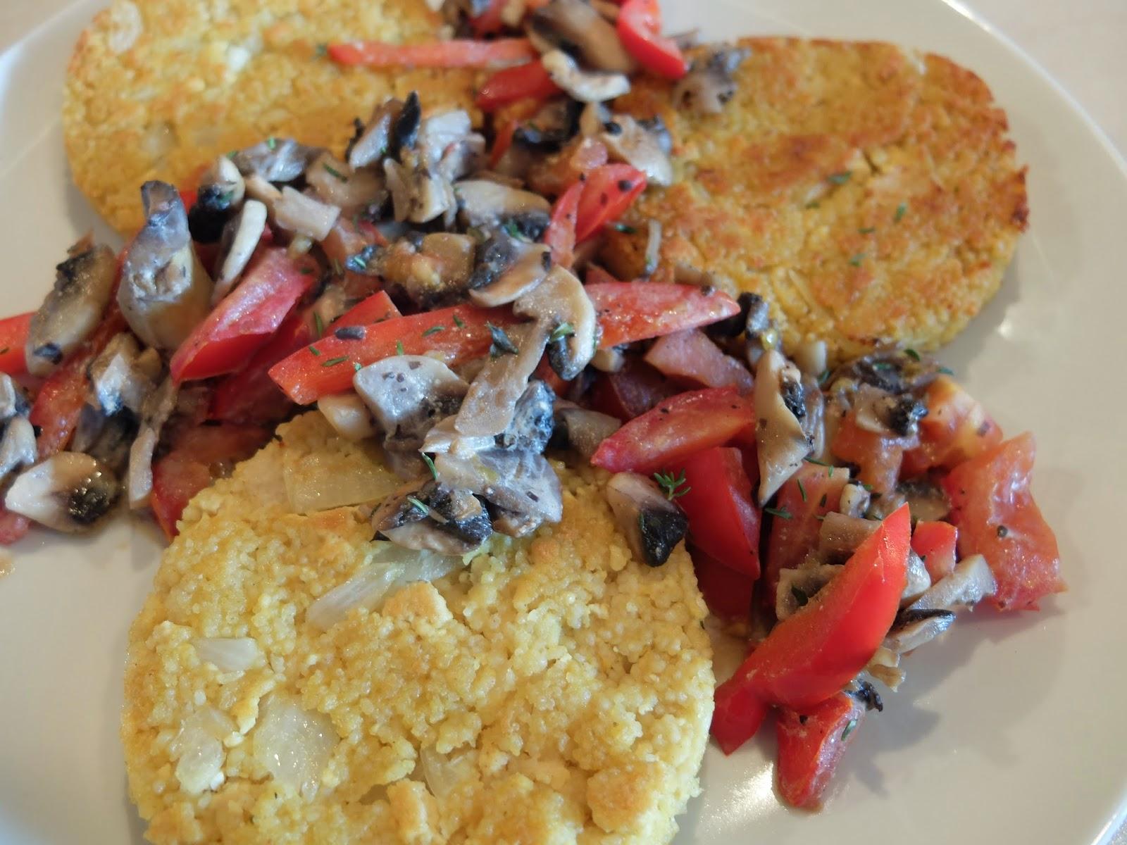 Couscous- Tofu Bratlinge mit Gemüse