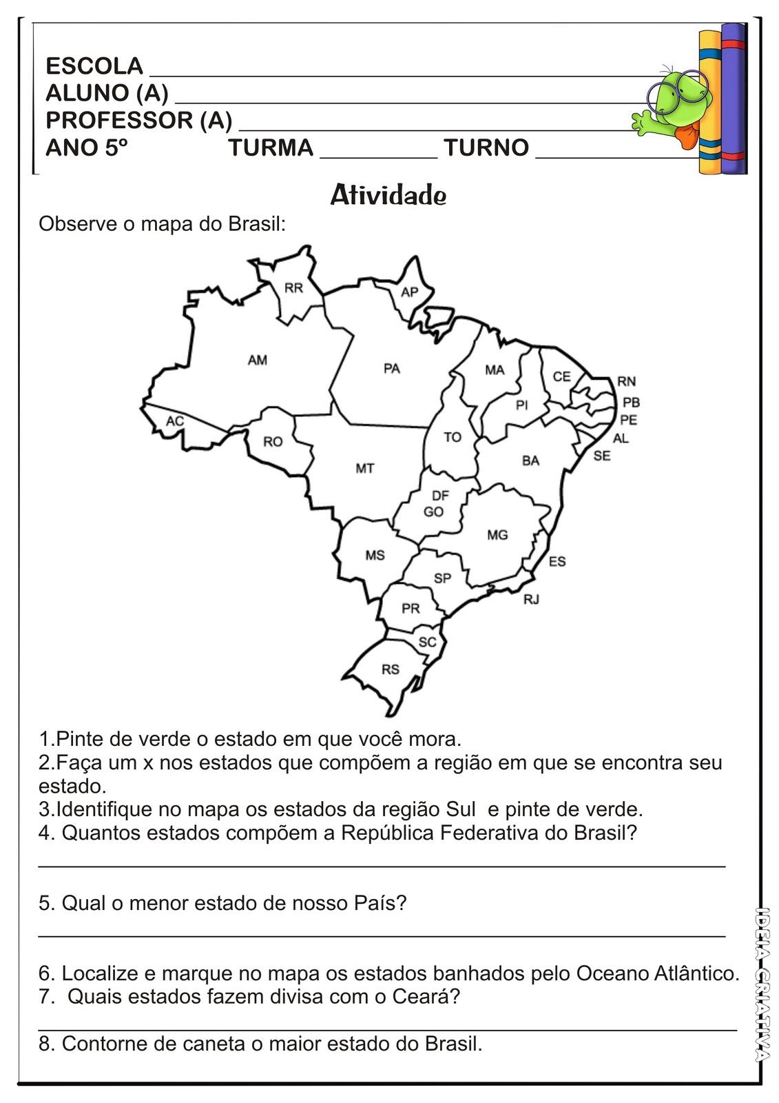 REGIÕESPONTOS CARDEAIS CIÊNCIAS E GEOGRAFIA 3°, 4°, 5° ANOS