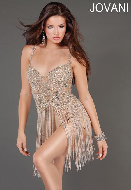 секси рокля с ресни и камъни