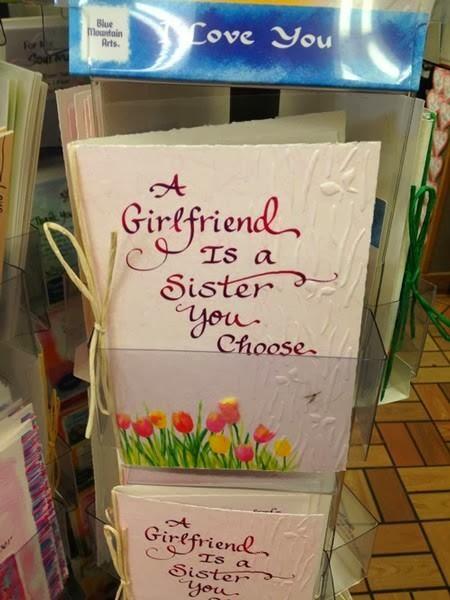 tarjeta - Una novia es una hermana que tu eliges