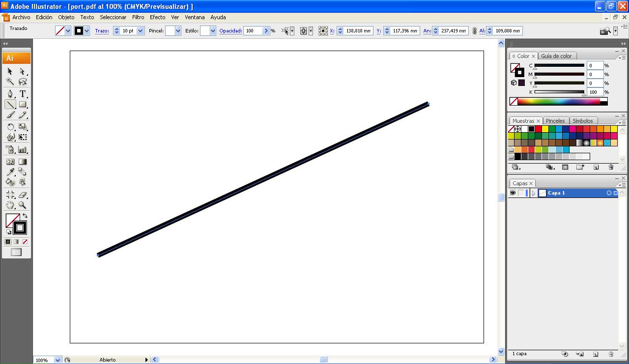 AYTUTO: Dibujar una línea punteada en ILLUSTRATOR