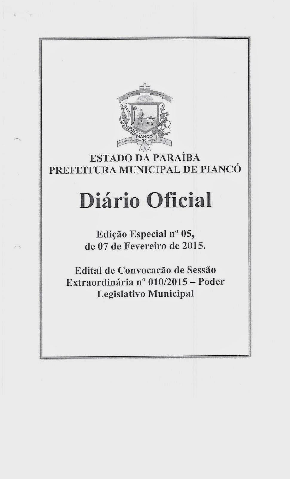 CÂMARA MUNICIPAL (Edital)