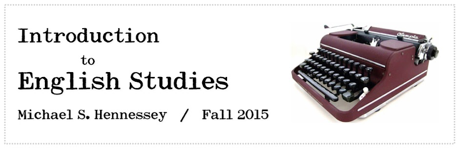 Intro to English Studies — Fall 2015