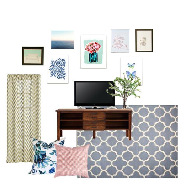 Apartment Gallery Wall Progress Michaela Noelle Designs