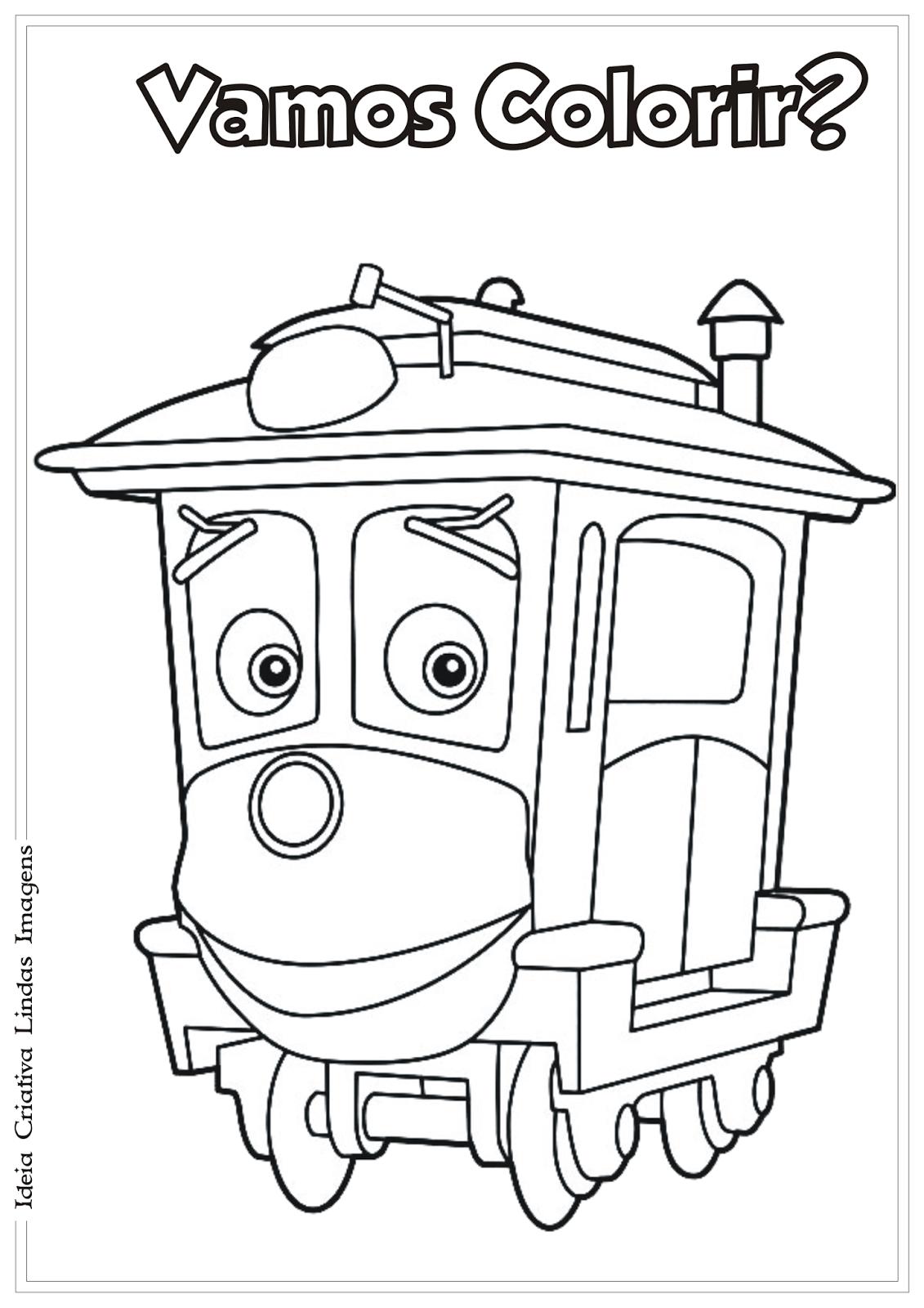 Chuggington desenho para colorir