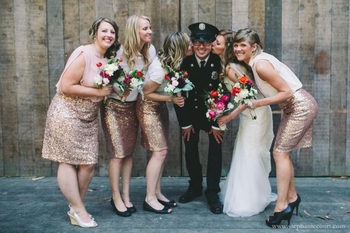 rustic chic rose gold bridesmaid dresses