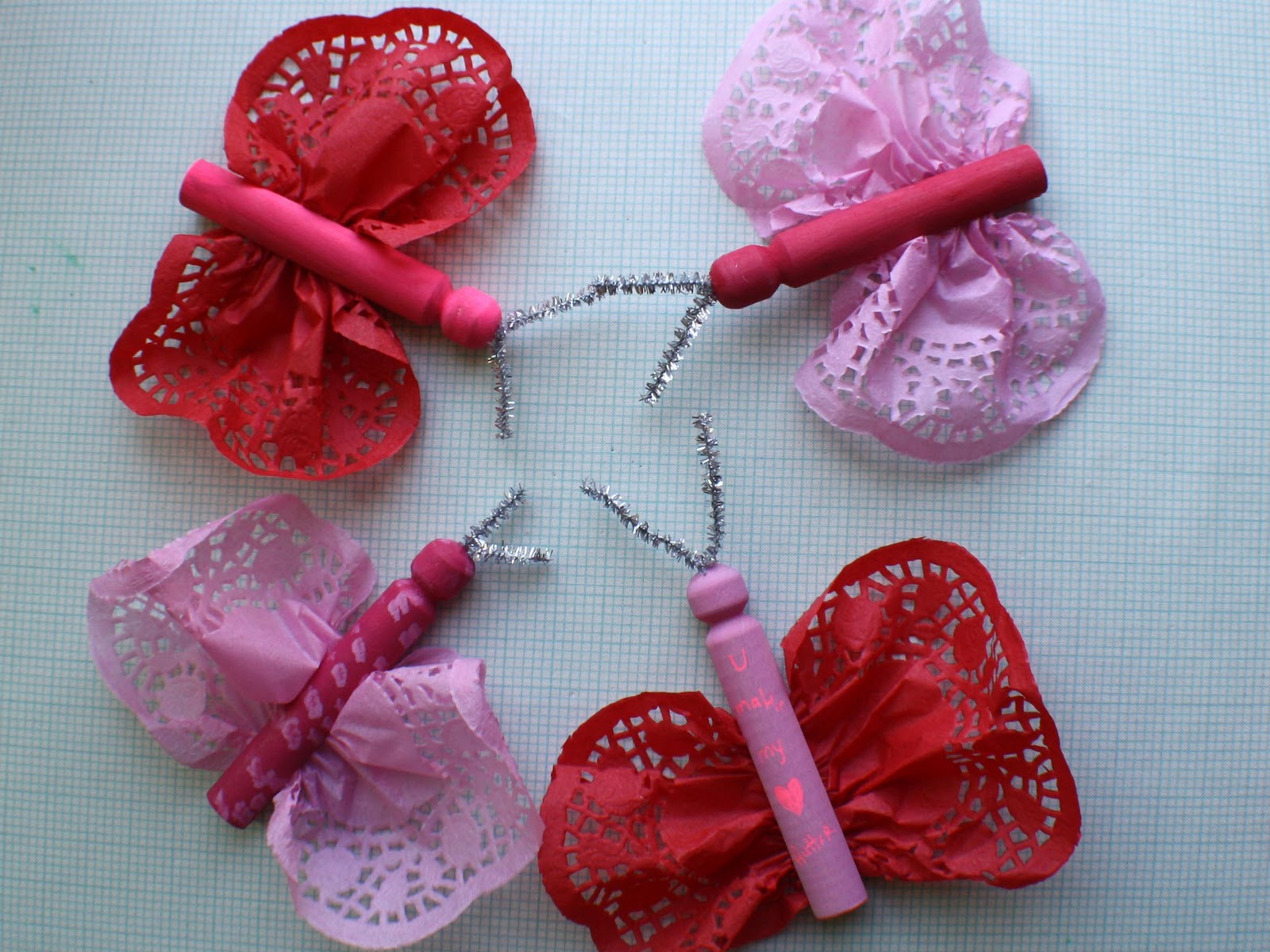 Scrumdilly Do Valentine S Day Doily Butterflies