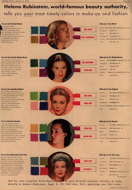 1940s lipstick color plan