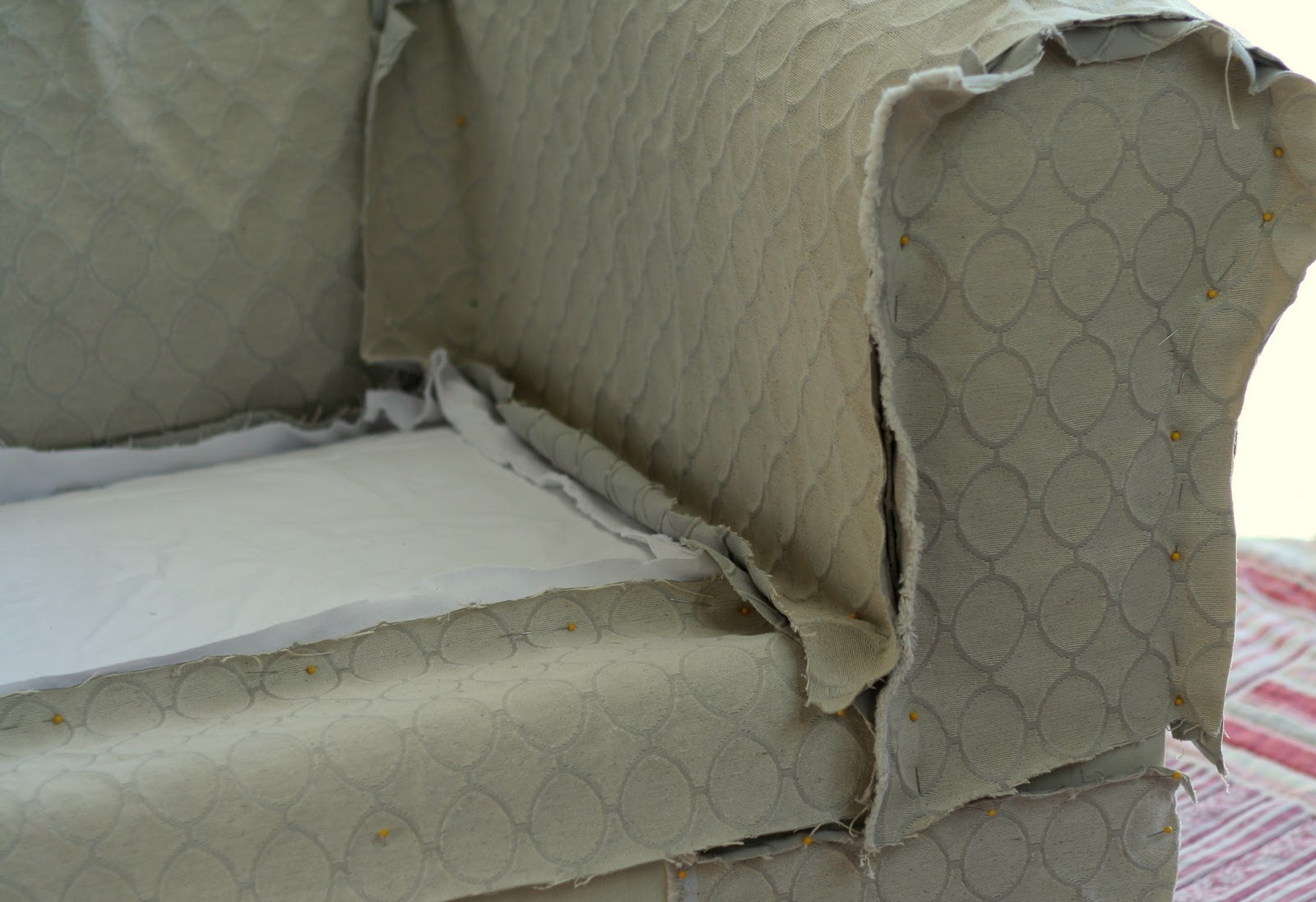 How To Make A Sofa Slipcover Sofa Bed Slipcover Using Easy Pattern