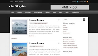 deStyle Blogger Template