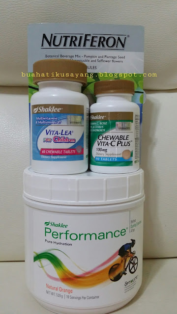 set anak demam, nutriferon, vitamin c chewable, performance drink, vitalea chewable