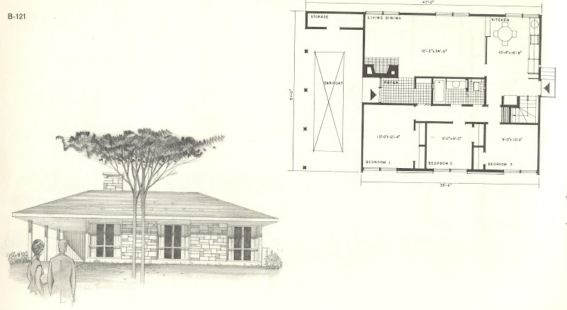 The reverse plan was also available with bedrooms at the front. title=