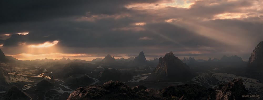 Cloudy with A Chance of Lava Matte Painting