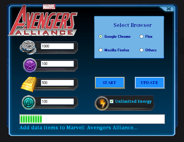 Marvel: Avengers Alliance Bot Features: