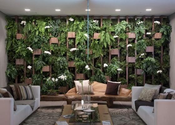 decoracao muros jardim:Depois que o seu jardim vertical estiver pronto ésó relaxar e
