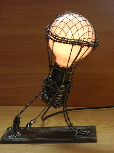balloon zilla pic hot air balloon lamp. Black Bedroom Furniture Sets. Home Design Ideas