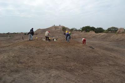 Tras culminar las labores de limpieza se iniciaron las investigaciones arqueológicas en huaca Brava, en el distrito de Pátapo (Lambayeque).