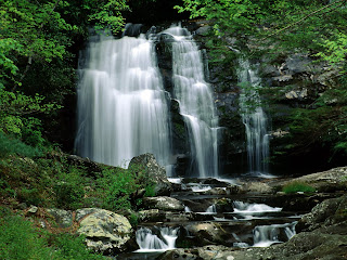 gambarwallpaper pemandangan air terjun Meig's Falls, Great Smoky