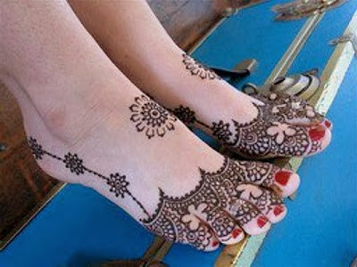 Mehndi Designs For Feet : Bridal mehndi designs latest feet