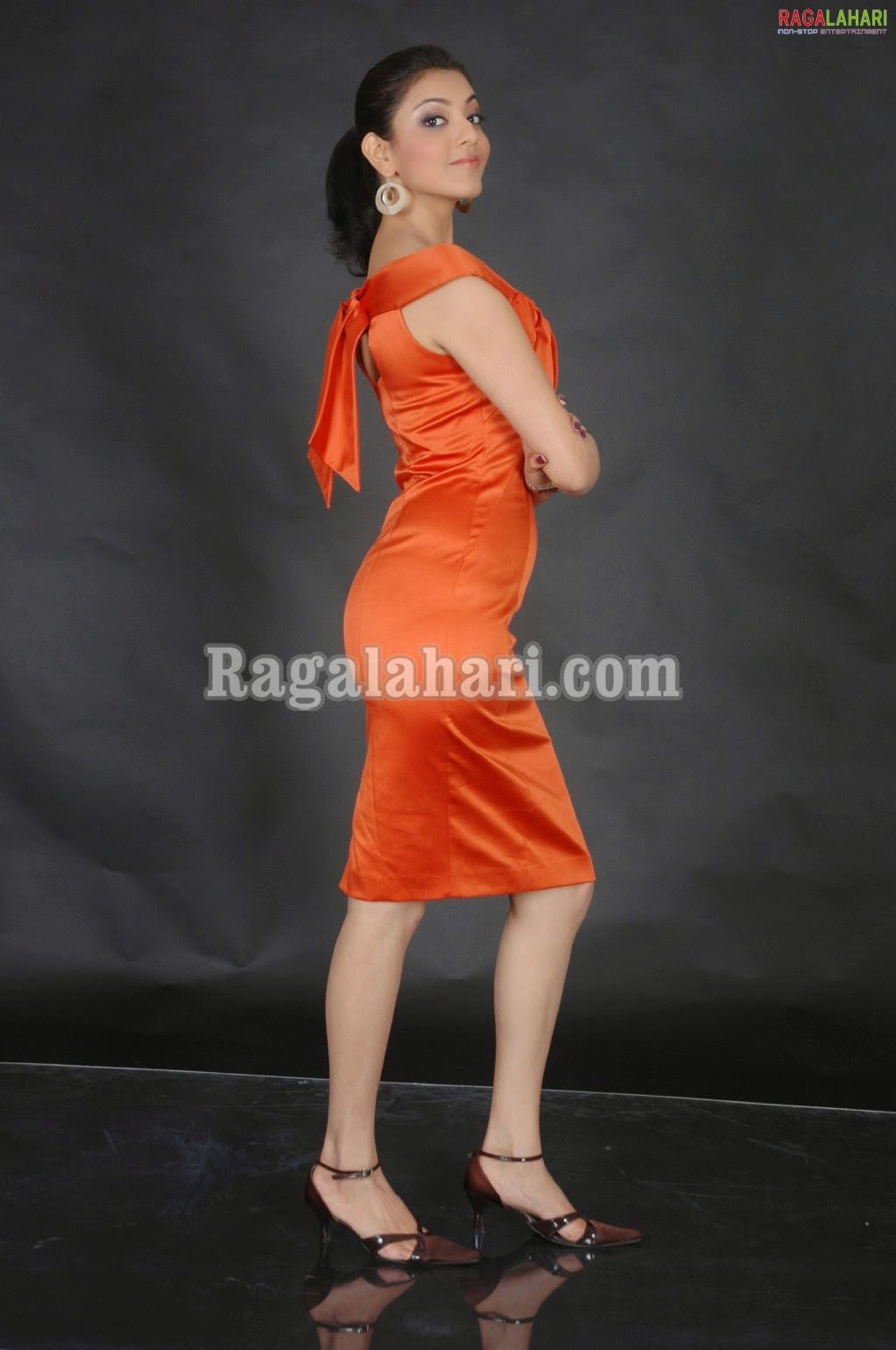 Kajal agarwal orange back