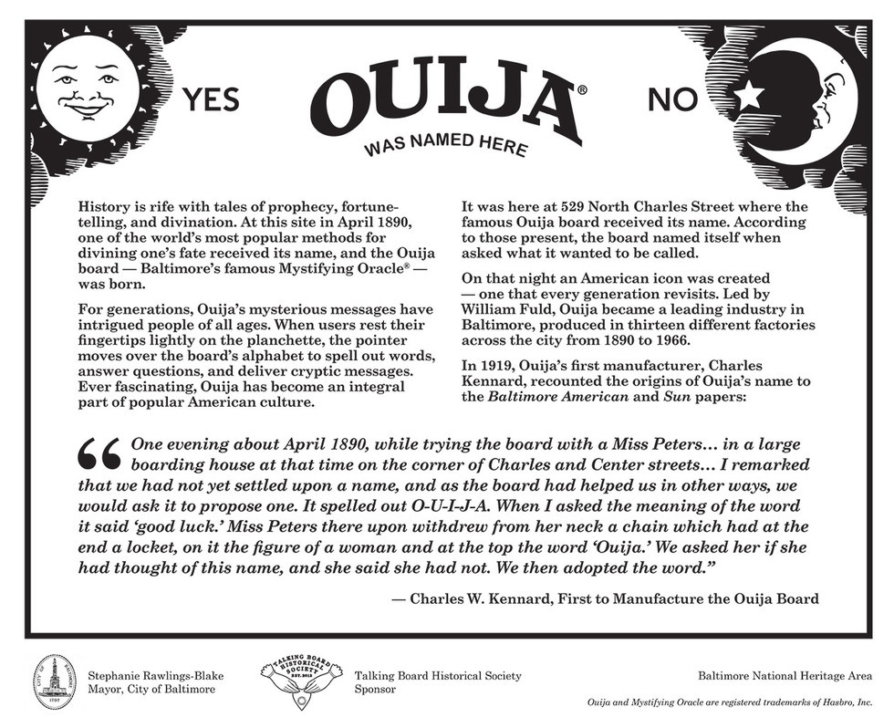 characteristics and history of the ouija boards Free dvds & books: learn all about the ouija board, what it is, its history, how it works, and if it is dangerous history of ouija boards.