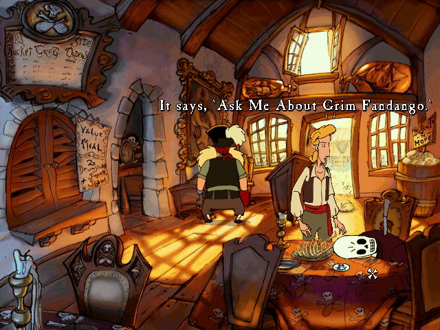 Curse of Monkey Island Ask Me About Grim Fandango
