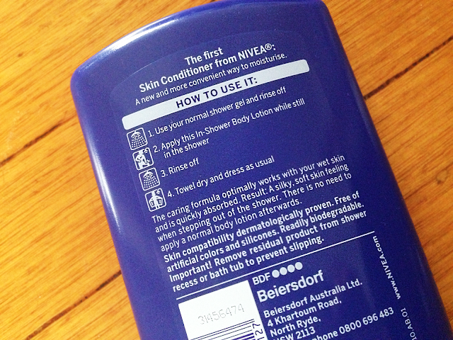 nivea in shower body lotion skin conditioner review