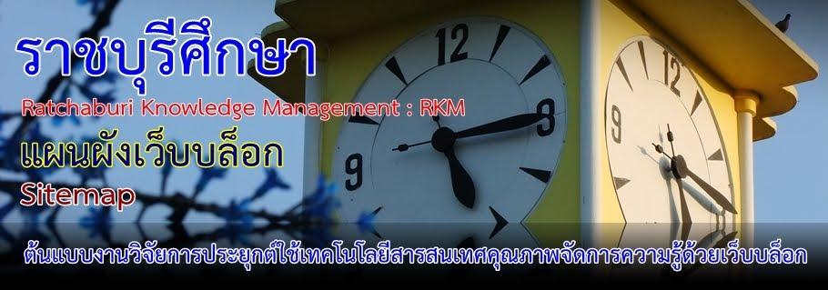 แผนผัง Blog ราชบุรีศึกษา