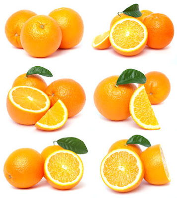 6 fotografas de naranjas en diversas posiciones - Oranges stock photos