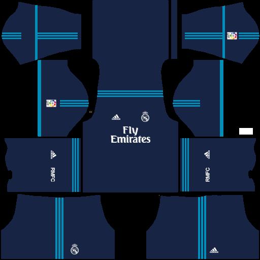 Kits/Uniformes Real Madrid , Liga BBVA 2015/2016 , FTS 15/DLS 2016