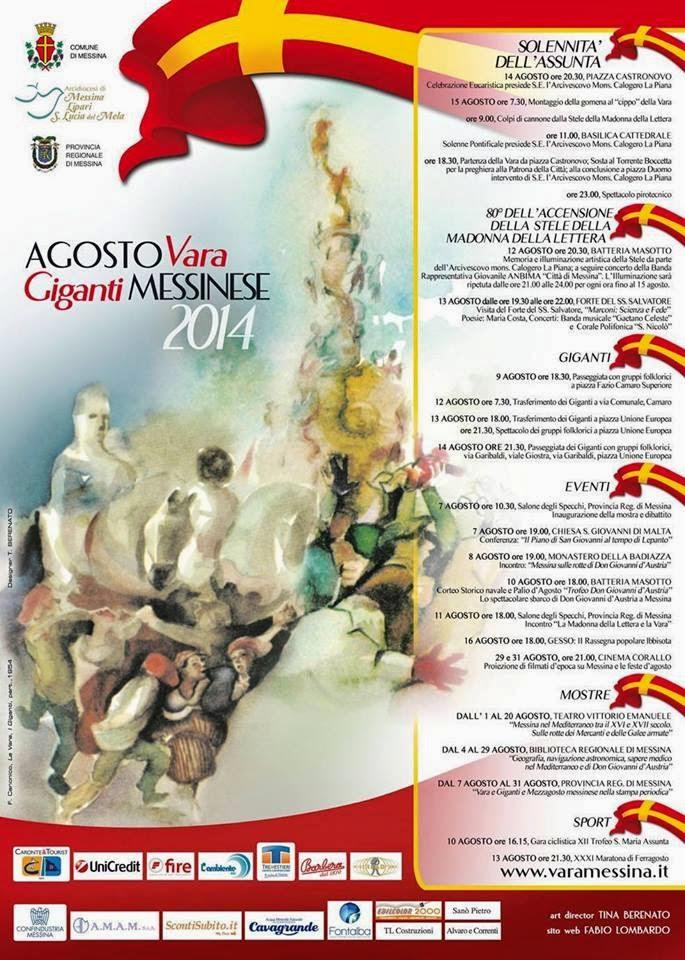 TUTTI GLI EVENTI DELL'AGOSTO MESSINESE 2014