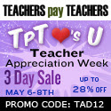 Teachers pay Teachers Annual Appreciation Week Sale