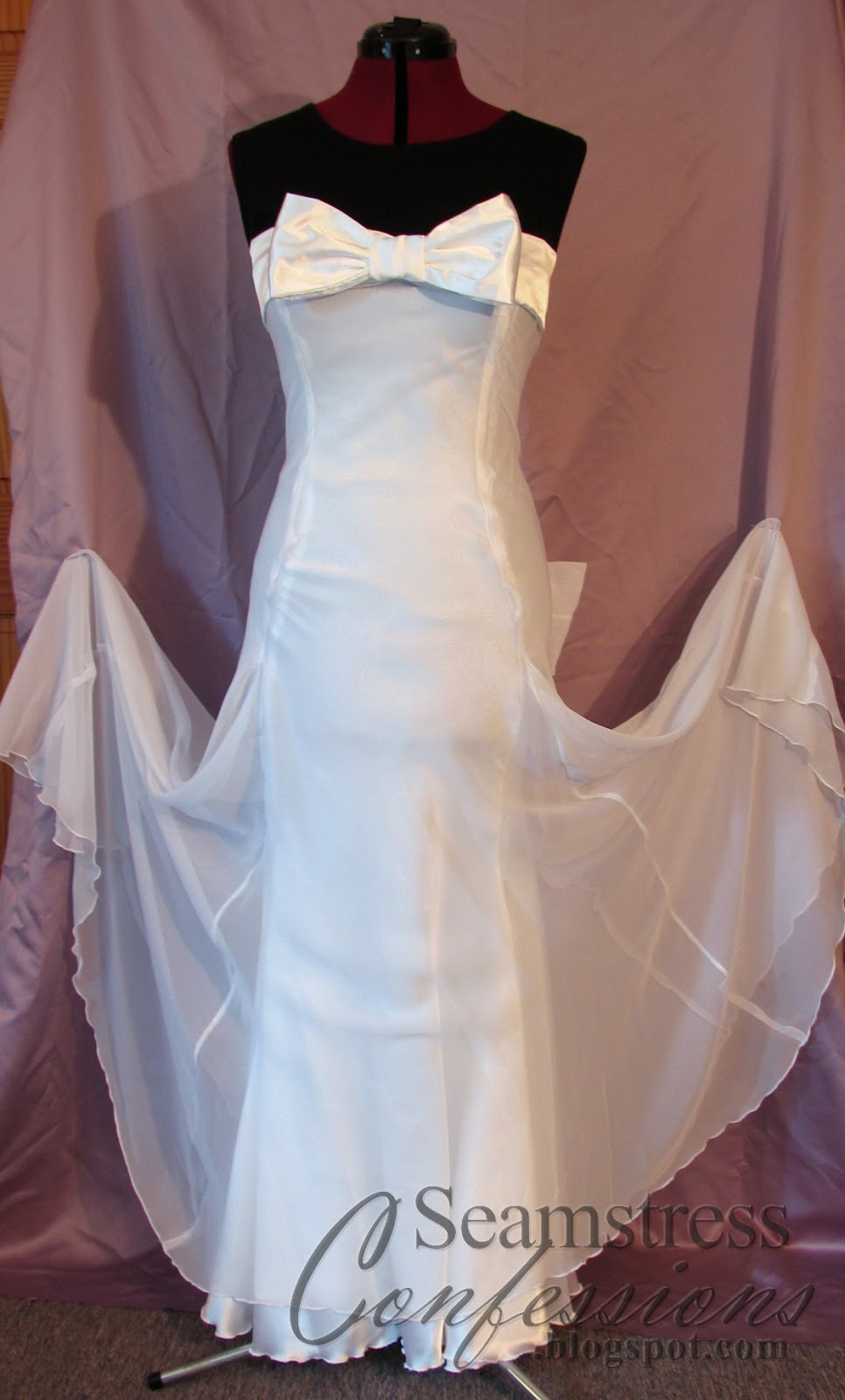 And Here Is The Finished Dress Photographed Nicely Against Some Lilac Fabric I Had Around