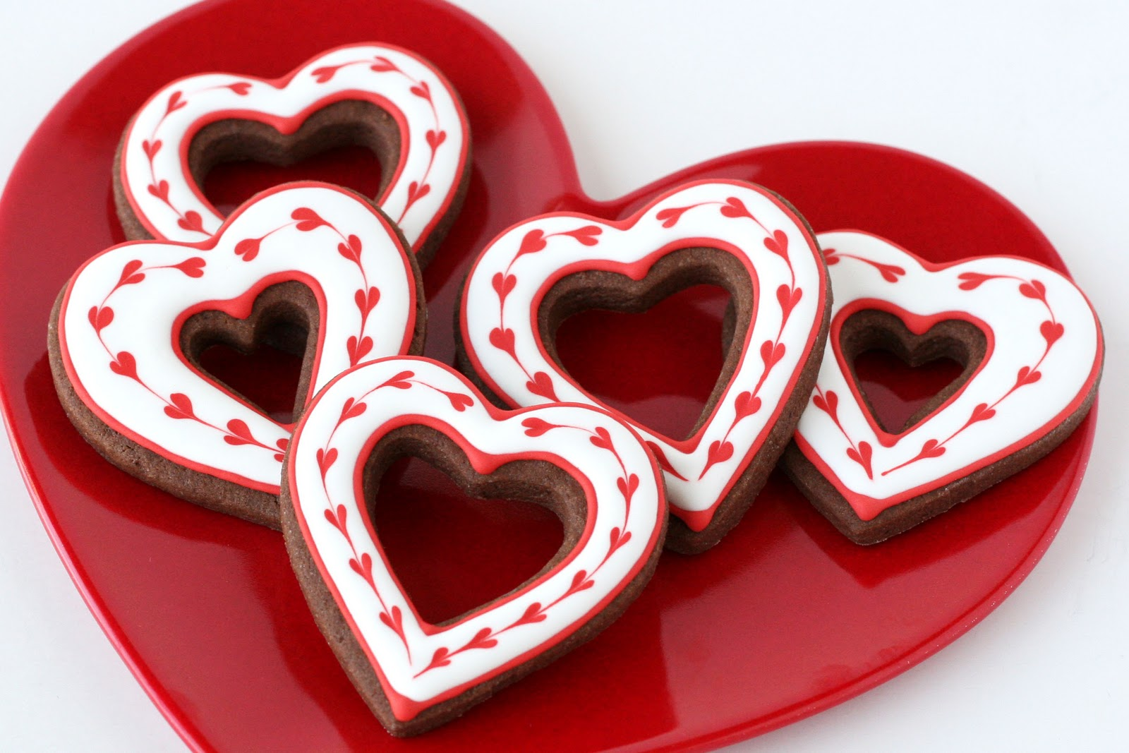 Simple Heart Valentine S Cookies Glorious Treats