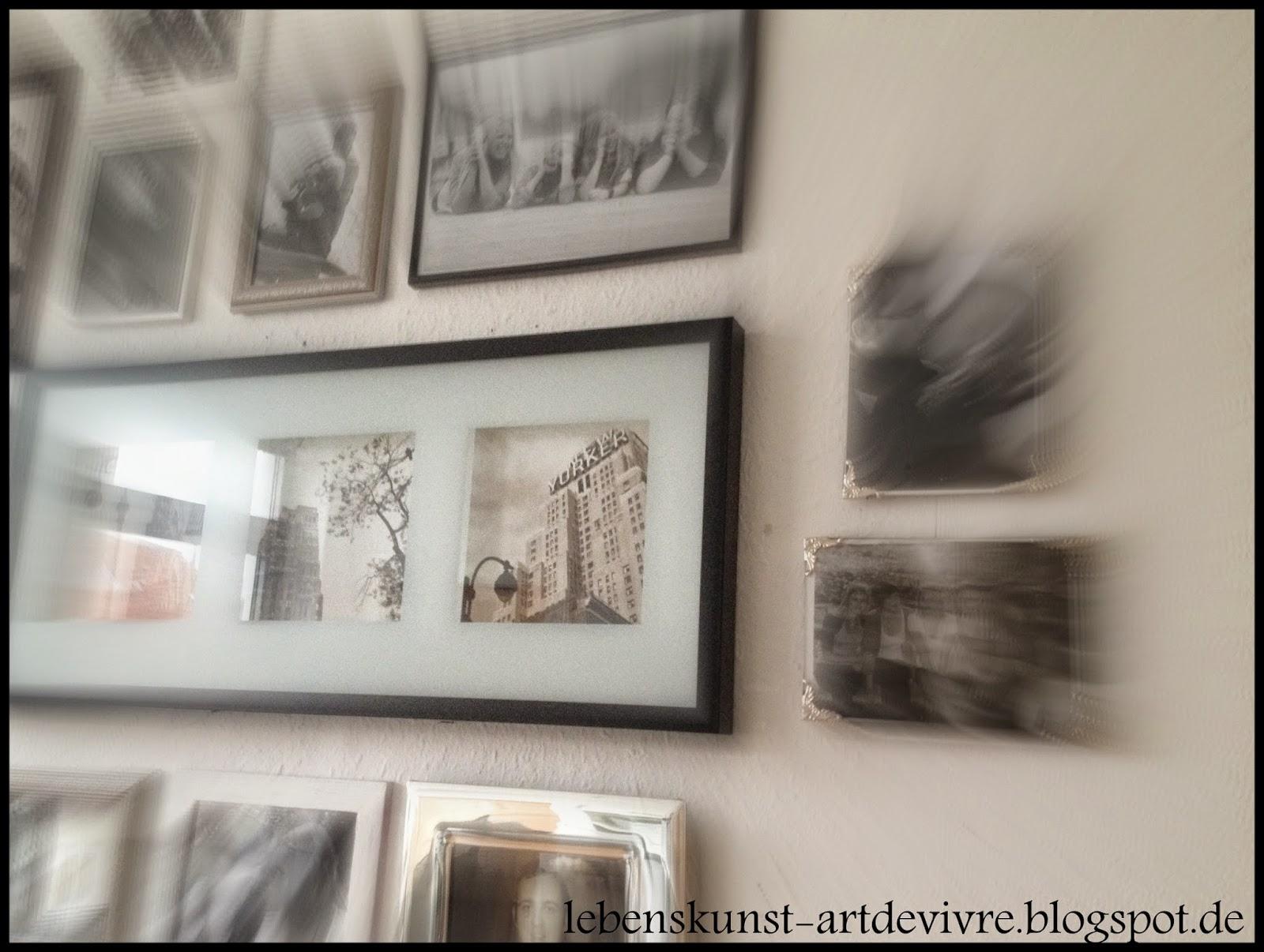 Fotowand Bilderrahmen lebenskunst artdevivre diy fotowand bilderrahmen
