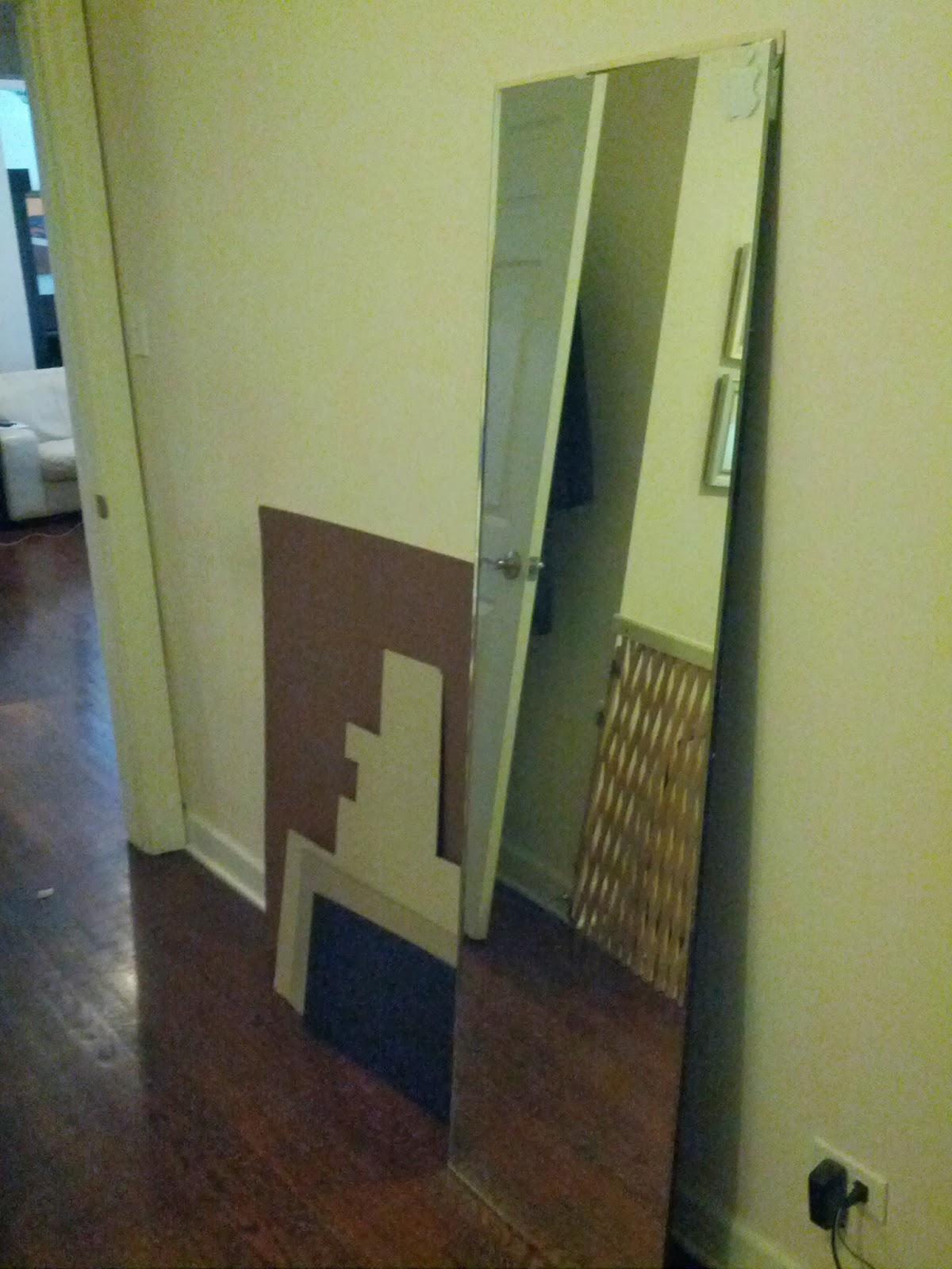 staceyandorsteve: DIY Floor Mirror Frame (with oxidized wood finish)