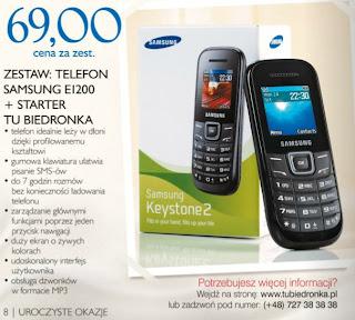 Telefon Samsung E1200 Biedronka ulotka
