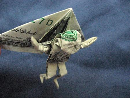 Dollar Bill Origami, Origami Art, Origami Hang Glider